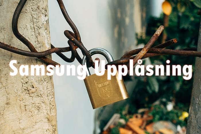 Samsung Mobilupplåsning