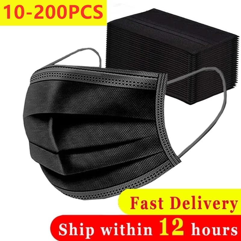 10-200PCS-Disposable-Black-Adult-Protective-Mask-Anti-Dust-Anti-Droplets-3-Layers-Filter-Earloop-Non-7.jpg