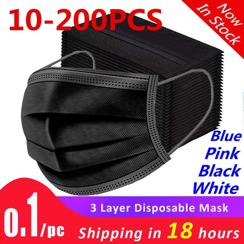 10-200pcs-Mask-Disposable-Face-masks-Non-woven-3-Layer-Mouth-Mask-Filter-Black-Dust-proof-7.jpg