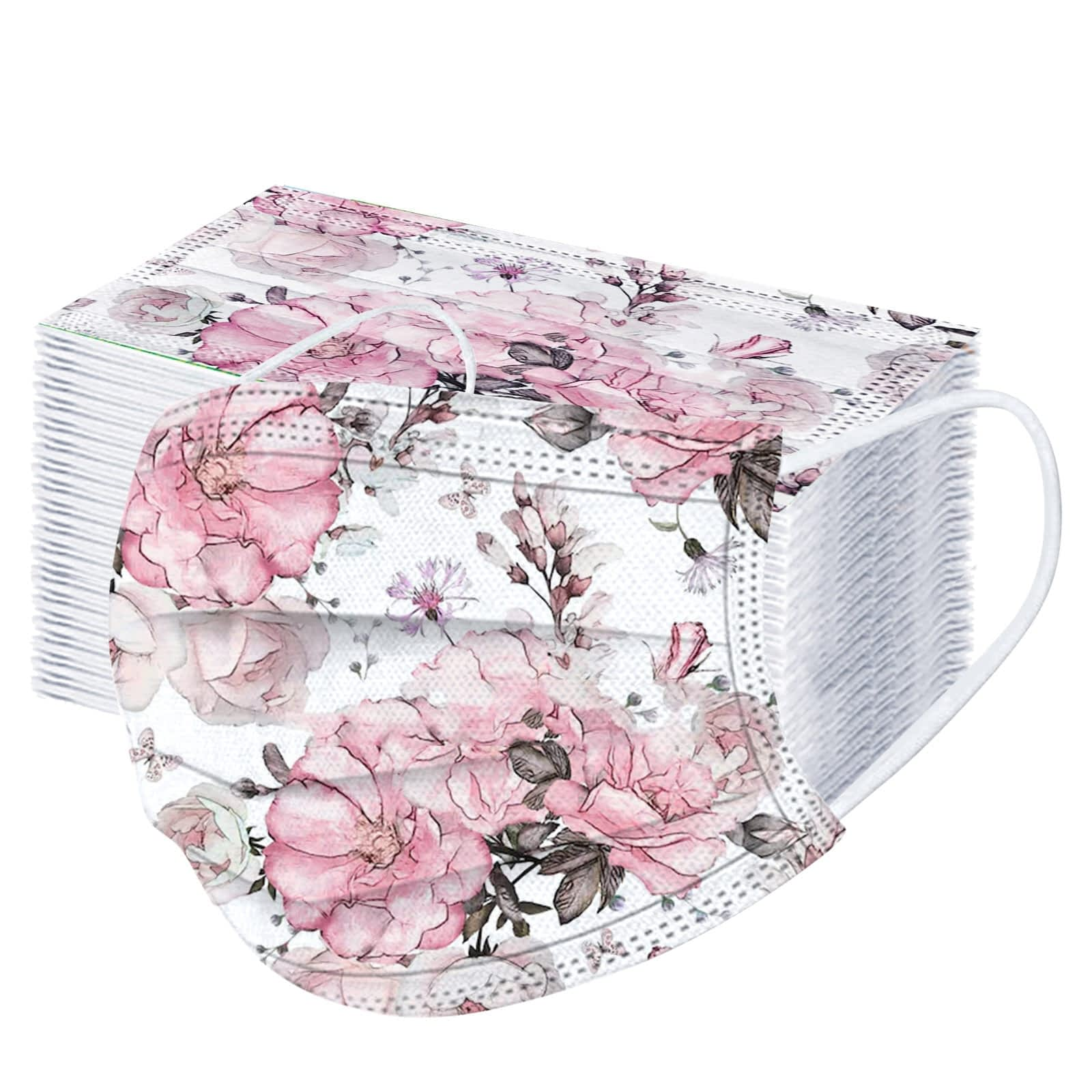10-50-100PCS-Floral-Mask-Adult-Disposable-Mask-Spring-Pink-Flower-Print-Three-Layer-Protective-Face-7.jpg