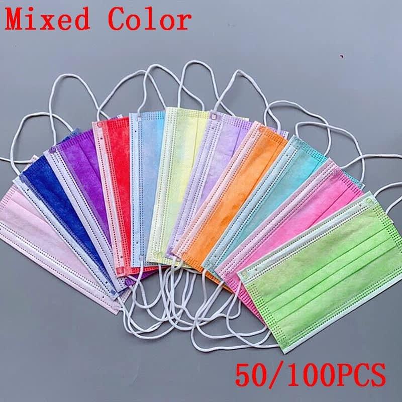50-100pcs-Disposable-Non-woven-3-layer-Filter-Mask-Purple-Orange-Green-Black-Mouth-Face-Mask-7.jpg