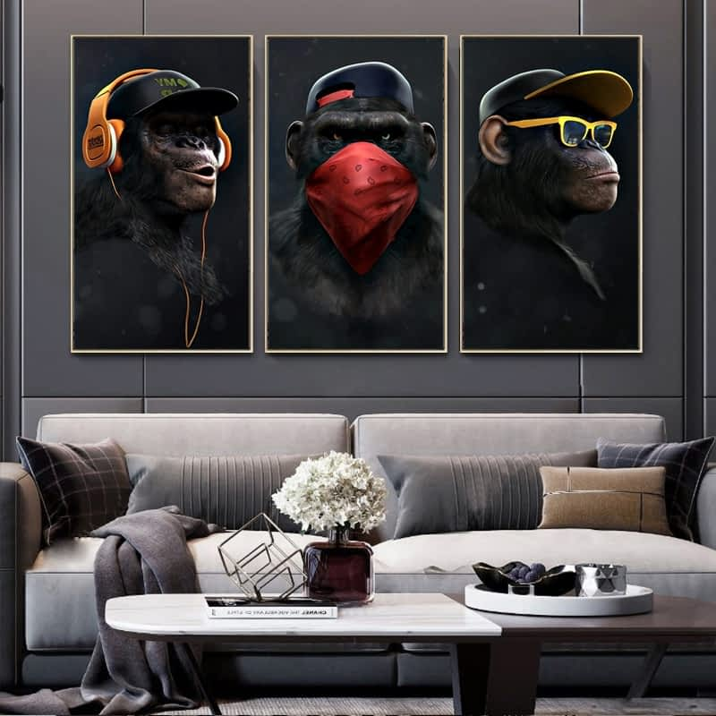 Animal-Painting-Funny-Headphone-Gorilla-Canvas-Oil-Paintings-Wall-Art-Posters-and-Print-Canvas-Prints-for-6.jpg
