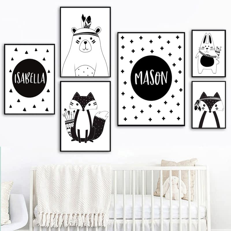 Black-White-Cartoon-Bear-Rabbit-Baby-Nursery-Wall-Art-Canvas-Poster-Custom-Name-Print-Painting-Nordic-7.jpg