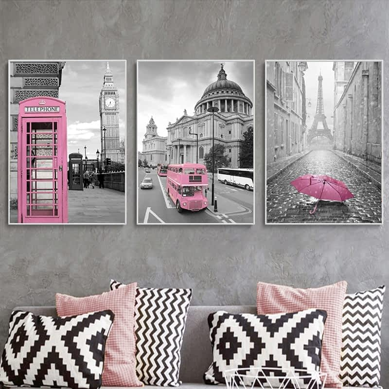 Pink-Black-White-Wall-Art-Poster-Print-Paris-Scenic-Canvas-Painting-Abtract-Tourise-Bus-Telephone-Booth-7.jpg