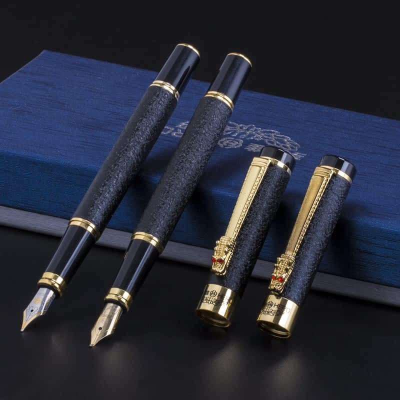 luxury-high-quality-Hero-Fountain-Pen-Frosted-black-Golden-Dragon-iraurita-INK-PEN-Stationery-Office-school-7.jpg