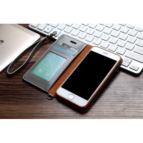 CMAI2 plånboksfodral i denim och konstläder för iPhone 7 och 8. Snyggt fodral i denimmaterial och delikata sömmar som ger en elegant look. Plats för både kort och sedlar och fodralet kan även vikas till ett smidigt ställ. Praktisk handledsrem medföljer också! Passar: iPhone 7 och 8 Färg: Grå produktbild 4