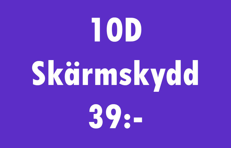 Onlinebutik - Skärmskydd banner