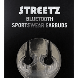 Streetz svarta bluetooth sporthörlurar produktbild 1