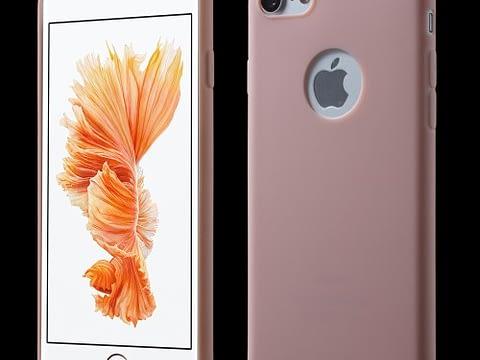 Tunnt rosa TPU-skal till iPhone 7 och 8