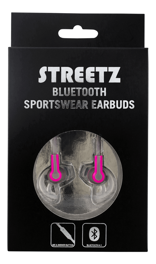 STREETZ Bluetooth-sporthörlurar, grå/rosa Image